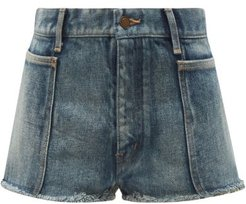 Distressed Denim Shorts - Womens - Denim