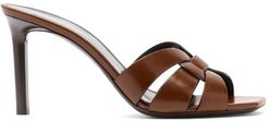 Tribute Leather Mules - Womens - Light Brown