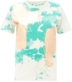 Tie-dye Upcycled Cotton-jersey T-shirt - Womens - Green Multi