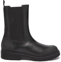 Patty Chunky-sole Leather Chelsea Boots - Womens - Black