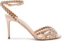 Tequila 85 Crystal-strap Leather Sandals - Womens - Light Pink
