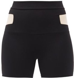 Cosmic Panelled Jersey Cycling Shorts - Womens - Black White