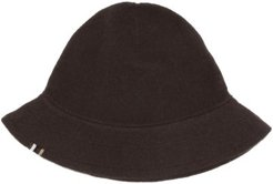 No.166 Harris Stretch-cashmere Bucket Hat - Womens - Dark Brown