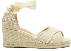 Bluma 60 Canvas & Jute Espadrille Wedges - Womens - Cream
