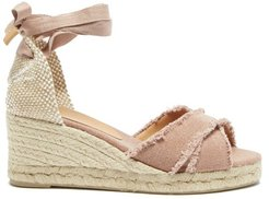 Bluma 60 Canvas & Jute Espadrille Wedges - Womens - Dark Pink