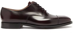 Falmouth Square-toe Leather Oxford Shoes - Mens - Burgundy