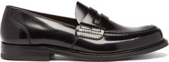 Farsley Leather Penny Loafers - Mens - Dark Brown