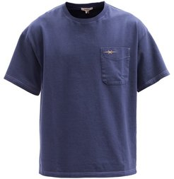 Logo-embroidered Organic Cotton-jersey T-shirt - Mens - Navy