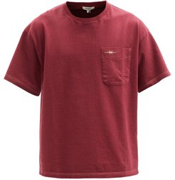 Logo-embroidered Organic Cotton-jersey T-shirt - Mens - Red