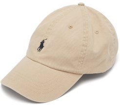 Logo-embroidered Canvas Baseball Cap - Mens - Brown Navy