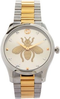 G-timeless Stainless-steel Watch - Mens - Silver Gold