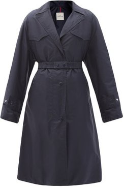 Rutilicus Belted Shell Trench Coat - Womens - Navy