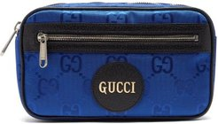 Off The Grid Gg-jacquard Canvas Belt Bag - Mens - Blue