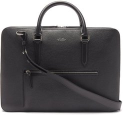 Ludlow Grained-leather Briefcase - Mens - Black