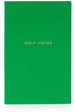 Panama Golf Notes Leather Notebook - Mens - Green