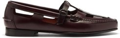 Nestra Woven Leather Loafers - Mens - Burgundy