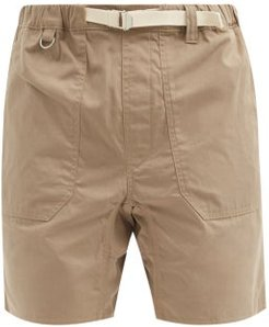 Service Belted Cotton-ripstop Shorts - Mens - Beige