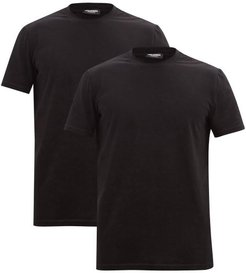 Pack Of Two Cotton-blend Jersey T-shirts - Mens - Black