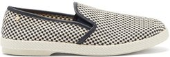 Mods Woven-canvas Loafers - Mens - Blue Multi