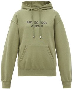 Dropout Logo-print Cotton-jersey Hooded Sweatshirt - Womens - Khaki