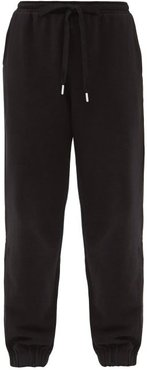 Major Logo-embroidered Cotton-jersey Track Pants - Womens - Black