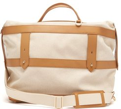 Weekender Canvas And Leather Holdall - Mens - Tan Multi
