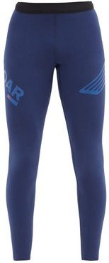 Elite Session Technical-shell Compression Leggings - Mens - Navy