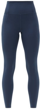 High-rise Compression Leggings - Womens - Navy