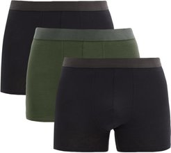 Pack Of Three Lyocell-blend Boxer Briefs - Mens - Black Multi