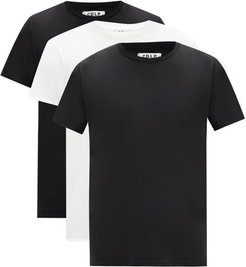 Pack Of Three Lyocell-blend Jersey T-shirts - Mens - Multi