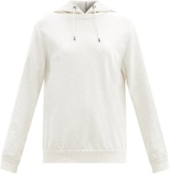 Cotton-blend Hooded Sweatshirt - Womens - Ivory