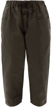 Belted Cotton-oxford Cargo Trousers - Mens - Dark Brown