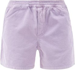 Cotton-needlecord Shorts - Mens - Purple