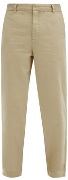 Garment-dyed Cotton-twill Chino Trousers - Mens - Light Beige