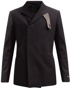 Double-breasted Cotton-corduroy Jacket - Mens - Black