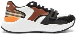 Ramsey Leather And Suede Trainers - Mens - White Multi