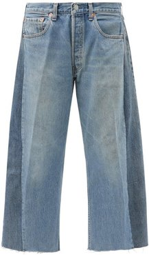 Lasso Upcycled Cropped Relaxed-leg Jeans - Womens - Denim
