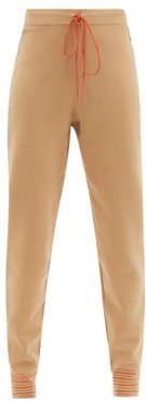 Ponza Drawstring-waist Knitted Track Pants - Womens - Beige Multi