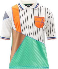 Fitztoy Upcycled Cotton-jersey Polo Shirt - Mens - Multi