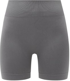Composed High-rise Stretch-jersey Cycling Shorts - Womens - Dark Grey