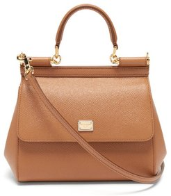 Sicily Small Pebbled-leather Bag - Womens - Tan