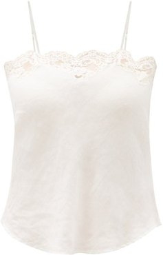 Ponza Lace-trimmed Linen Cami Top - Womens - Ivory