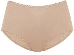 Mabel Organic-cotton Jersey Briefs - Womens - Nude