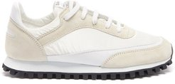 X Spalwart Coated-canvas And Leather Trainers - Womens - White