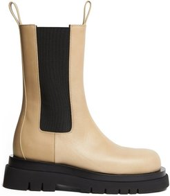 The Lug Leather Boots - Womens - Light Beige
