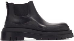 The Tire Leather Chelsea Boots - Womens - Black