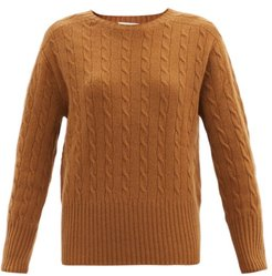 Carmine Cable-knit Cashmere Sweater - Womens - Camel