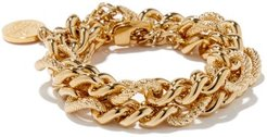 Lana Double-chain 18kt Gold-plated Bracelet - Womens - Yellow Gold