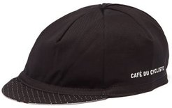 Polka-dot Brim Twill Casquette - Mens - Black