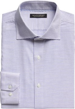 Slim-Fit Non-Iron Dress Shirt with Cutaway Collar